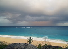 Rain approaching Bay (Joseph + Co.) Tags: cliff beach rain bay barbados approaching stphilip