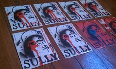 Drippy! New Sully Stickers / usps Slaps (. :SULLY/MDK : .SullyArtLtd) Tags: from eye art face out graffiti stencil sticker paint artist panel cut five knife icon spray cap spraypaint drips usps sully limited 228 xacto mdk