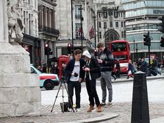 Trafalgar Square Photographers (Waterford_Man) Tags: people male london photographer path candid trafalgarsquare