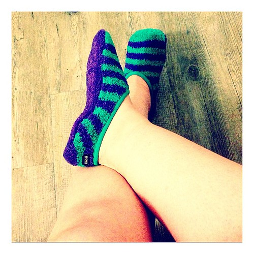 Loving my new...whatever these are. #socks #bedsocks #slippers #happy365