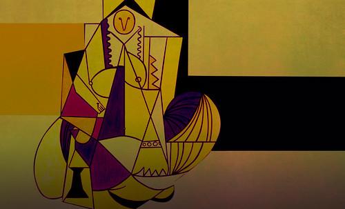 """Odaliscas (Mujeres de Argel) yuxtaposición y deconstrucción de Pablo Picasso (1955), síntesis de Roy Lichtenstein (1963). • <a style=""""font-size:0.8em;"""" href=""""http://www.flickr.com/photos/30735181@N00/8748002936/"""" target=""""_blank"""">View on Flickr</a>"""