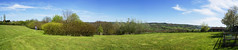 Day 3 - Panorama View (Cris Ward) Tags: blue trees sky panorama sunlight green grass clouds bristol walking outdoors countryside town village view farm sony spin country wide meadow kitlens vivid sunny panoramic farmland 180 rotation photomerge greenbelt 1855mm alpha dslr viewpoint amateur ultrawide sweep merge circular wick beginner semicircle rotate a450 outofcity