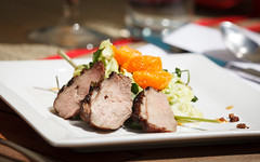 Roasted Duck Salad with Watercress & Clementines (don.reid) Tags: california ca food usa college river lunch photo cafe student photos arc run gourmet management american sacramento culinary hospitality foodie 95841