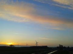 Alphen skies (JahLex) Tags: sunset sky mobile bluesky april alphenaandenrijn windmolens alphen n11 2013 kerkenzanen