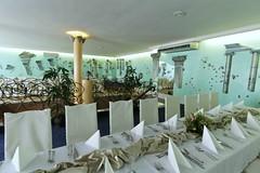 """SALA Farby dekoracyjne zabezpieczone polimerem Stone Tone II. Restauracja Atlantyda przy hotelu Nowy Dwór w Zaczerniu. • <a style=""""font-size:0.8em;"""" href=""""http://www.flickr.com/photos/48080832@N02/8767101887/"""" target=""""_blank"""">View on Flickr</a>"""