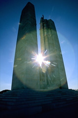 vimy starburst (Ron Layters) Tags: leica sun white france stone geotagged missing towers steps slide velvia transparency worldwarone sunburst warmemorial fujichrome firstworldwar picardie arras r6 missinginaction vimy walterseymourallward leicar6 ronlayters slidefilmthenscanned canadiannationalvimymemorial battleofvimyridge douaiplains geo:lat=5037978717550418 geo:lon=277440385844987