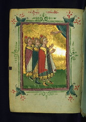 Book of Hours, The Three Jews in the Fiery Furnace, Walters Manuscript W.534, fol. 40v (Walters Art Museum Illuminated Manuscripts) Tags: book miniature illumination christian greece devotion manuscript byzantine waltersartmuseum codex 15thcentury bookofhours horologion originalbinding