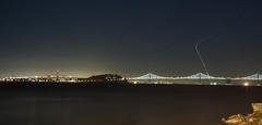 Bay Bridge by night (Thanks to everyone, 500K+ views!! www.christopherw) Tags: sanfrancisco california longexposure bridge usa canon eos bay san francisco long exposure le baybridge 50d