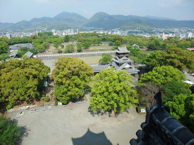 大天守閣から見下ろす風景|熊本城
