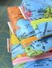 Weltenbummler / Globetrotter (ellis & higgs) Tags: world map handmade sewing fabric cotton pouch zip laminated weltkarte täschchen wachstuch reisverschlus
