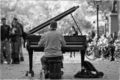 Piano in the Park - NYC (gastwa) Tags: park street new york nyc travel portrait blackandwhite bw music white newyork black zeiss square washington nikon focus df manhattan washingtonsquarepark piano andrew full frame nyu f2 manual fullframe fx manualfocus 135mm carlzeiss aposonnar gastwirth andrewgastwirth zeiss135mmf2aposonnar sonnar1352zf