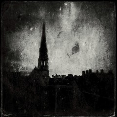 As the bells fade (Riel Noir) Tags: iphone5s iphone ipad iphoneography bw gloucester