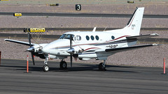 Beech E90 King Air N3818C (ChrisK48) Tags: 1976 90 aircraft airplane beeche90 beechcraft dvt kdvt kingair n3818c phoenixaz phoenixdeervalleyairport