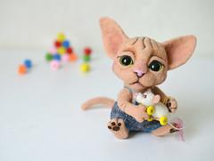 Little sphinx. (Fenekdolls) Tags: toy cat kitten wool felt craft felting art