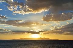 Super Solar (JasonCameron) Tags: blue light sunset lake water yellow clouds utah great salt glorious