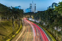 Ayer Rajah Expressway (AYE), Singapore (KSAG Photography) Tags: lighttrails longexposure singapore road motorway expressway asia travel transport southeastasia vehicles night city urban