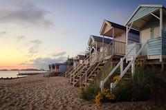 Norfolk Coastline (Steven Docwra) Tags: norfolk eastanglia beach huts beachhuts colour seascape wellsnextthesea summer sunrise dawn landscape flowers