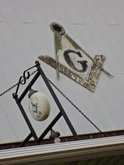 Masonic Signs, Logan, IA (Robby Virus) Tags: logan iowa masonic lodge temple building sign sings symbols masons freemasons