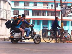 Dimapur - Family tranport (sharko333) Tags: travel voyage reise asia asie asien  nagaland indien india dimapur   street transport family scooter olympus em1
