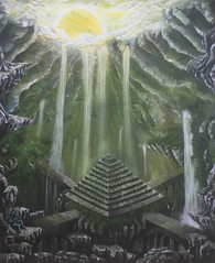 Lost Place (GrinseGlatze) Tags: fairytale color mythologie male mythos acryl janschnepauck fantasy kunst mnnlich wwwravenartsde mystik phantasie art artwork myth mann kreaturen illustration painting