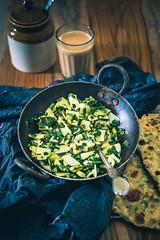 Aloo Hare Pyaz Ki Bhujia 1 (Whisk Affair) Tags: springonion greens stirfry potato