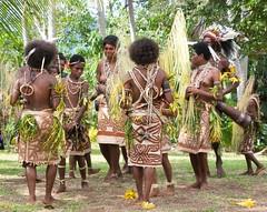 The girls (Sven Rudolf Jan) Tags: tufi papuanewguinea traditional dancers tapa skirts