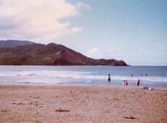 The Family Playing on the Beach - c1983 (kimstrezz) Tags: 1983 familytriptohawaiic1983 hanaleibay kauai