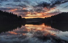 Shearwater sunset (Nige H (Thanks for 20m views)) Tags: nature landscape lake sunset reflection sky cloud shearwater shearwaterlake wiltshire england summer summernight