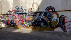Demonical train (KristHelheim) Tags: fujifilmx100t fujix100t fujifilm fuji france paris streetart street velvia city ville streetphotography tag graffiti 35mm grandtrain 18mearrondissement paris18