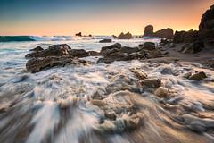 Riptide (Visual Sensory) Tags: california coast coronadelmar goldenhour newportbeach oc orangecounty southerncalifornia sunset water coastal socal waves