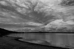 Clouds (at last) (simona.photo) Tags: bw clouds sky lake italy nikon d7000