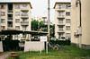 Cloudy/Housing complex (yasu19_67) Tags: housingcomplex film filmism analog filmphotography atmosphere cloud empty minoltaα7 schneiderrolleislxenon50mmf18 50mm fujifilm fujicolor c200 osaka japan