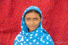 The Girl with the Green Eyes (Rolandito.) Tags: rajasthan pushkar camel fair gypsy rajasthani purl papu daughter mamtu mantu green bright eyes portreai woman girl portrait