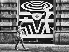 Everybody has a Secret (Petricor Photography) Tags: people monochrome street one black white woman urban building city milan milano italy photography canonpersonalconnection blackandwhite