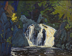 DUH_6201r (crobart) Tags: waterfall algoma canyon 1919 lawren harris ago toronto art gallery ontario