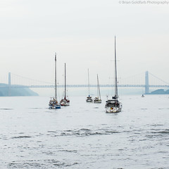 168/366 June 16 (BrianGoPhoto) Tags: 365 366 bridge georgewashingtonbridge manhattan newyork newyorkcity boats hudsonriver newjersey nyc project365 project366 sailboats