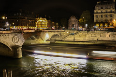 Tour Boats Passing By (Lucas.Klappas) Tags: paris europe france fre french european canal water river boat tourboat longexposure longexposures movement night nigh nightphotography photography photographer lights lowlight nikon canon 2016