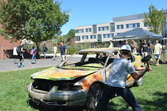 TKE Car Smash Fundraiser (dailycollegian) Tags: tke frat fundraiser cancer stjude 91216 jessicapicard umass umassamherst universityofmassachusetts universityofmassachusettsamherst car sledgehammer thomasbeard