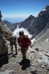 Onwards and Upwards (kevstewa) Tags: hiking mountains tetons tetonnationalpark grandteton alpine