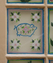 Pig (mag3737) Tags: lafonda hotel details pig window