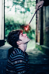 Harry Potter Tribute (Gabriel Venzi) Tags: harry potter harrypotter fineart art photoshop spell wand witch magic canon