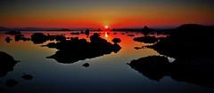 Mono Lake Beauty (Spebak) Tags: norcal california summer 2016 spebak jsbcv canon canon30d canondslr monolake tufa sun sunrise water reflection deep color orange nature outdoors natural morning silhouette glow fire skyonfire sky dawn