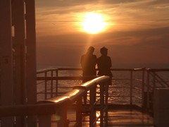 lovers or strangers ? (ariannabru) Tags: lovers love strangers people persone boat trip viaggio amore romantico landscape view panorama tramonto sunset life romantic