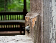 Weathered wood (pilechko) Tags: bowmanshill newhope pennsylvania buckscounty gazebo worn weathered old structure color selectivefocus