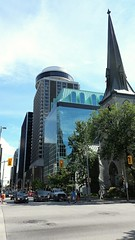 New and old buildings (walneylad) Tags: ottawa ontario canada downtown city urban view scenery skyline new old buildings architecture church steeple highrise tower summer august