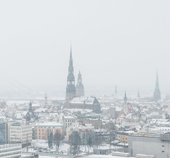 townscape.... impressive tower. 1  2013 DSC_8711-2 (andrey.salikov) Tags: snow tower beautiful wonderful photo high perfect key day mood shot photos gorgeous great latvia explore april townscape impressive riga lv latvija amazingly 2013 nikond60 vecriga