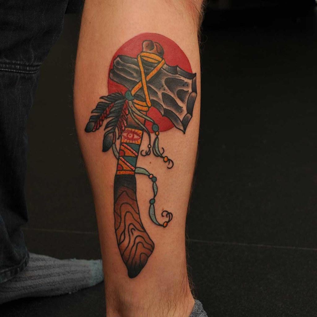 Apache Tomahawk Tattoo Designs Www Topsimages Com