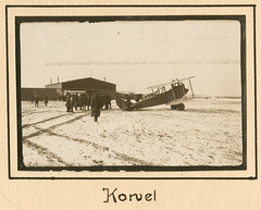 Kowel (SMU Central University Libraries) Tags: people snow men buildings ukraine worldwari planes worldwarone greatwar officers aricraft biplanes militarypersonnel kovel kowel