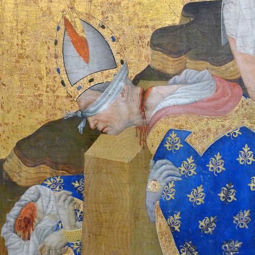 """Henri Bellechose (actif à Dijon entre 1415 et 1430) """"Le Retable de saint-Denis"""" dét. (1415-1416) musée du Louvre (Paris, France)"""
