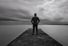 See The Sea (Zul Hilmi Zahari) Tags: longexposure bw selfportrait nikon pasirpanjang nd400 d80 singleraw